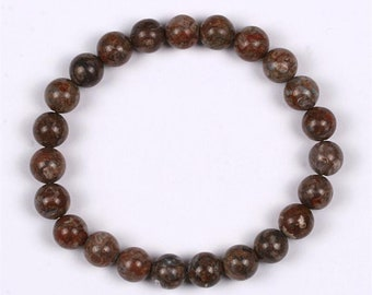 One Vortexite Energy Bracelet! Genuine & Natural Polished Beads! Brings Fresh Charge of Energy Into The Body! Carries Vortex Energy!