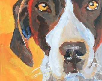 German Shorthaired Pointer Art Print of Original Acrylic Painting - 8x10