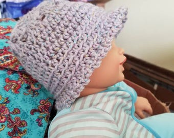 Infants and children Home made crocheted and knit hats.