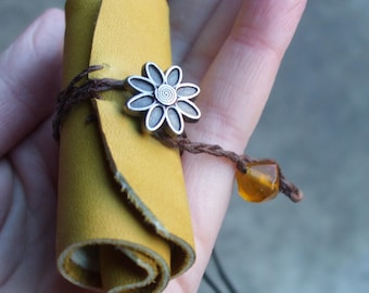 Leather Scroll Journal - a necklace that can hold your thoughts