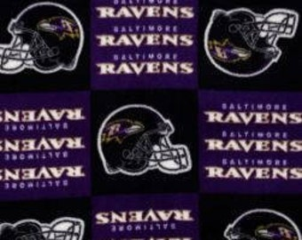 Baltimore Ravens - Blanket Made with Baltimore Ravens Fleece - Made to Order