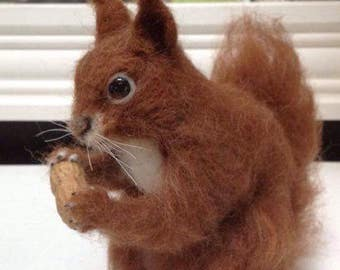 Needle Felted Red Squirrel Made to Order