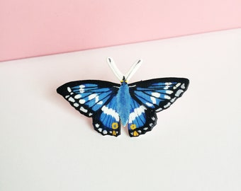 Purple Emperor Pin - Butterfly Pin - Wildlife Pin - Shrink Plastic Pin - Purple Emperor Butterfly - Nature Lover Gift - Nature Pin