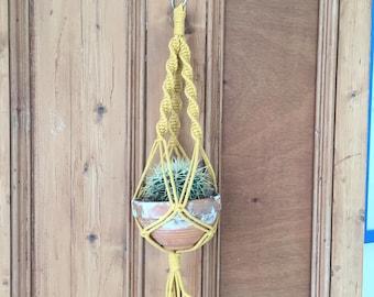 Handmade Macrame Twisted Plant Hanger Small