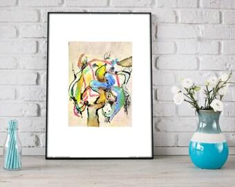 Surreal Abstract Art Print