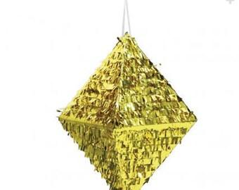 Gold Foil Diamond Wedding Piñata 18 inches
