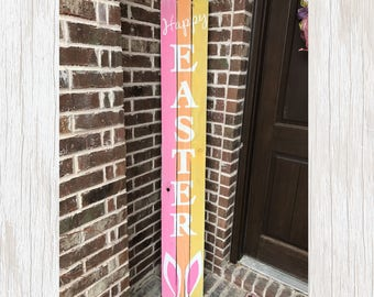 Easter Decor Wood, Rustic Easter Decor, Easter Sign, Easter Decor, Wood Easter Sign, Happy Easter Sign, Happy Easter Wood Sign, Porch Sign