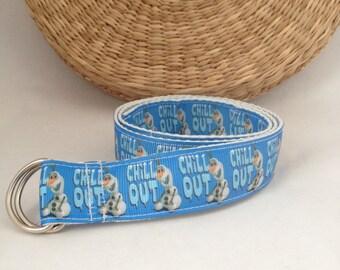 Frozen Disney Belt, Children Adjustable Belt, Cotton,