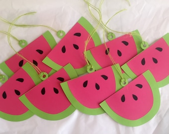 Watermelon Favor Tags/Gift Tags, Set of 8
