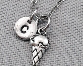 Ice cream necklace, ice cream jewelry, food necklace, personalized necklace, daughter necklace, friend necklace, sister necklace