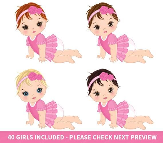 baby girl clipart vector baby clipart baby clipart newborn rh etsy com baby girl clip art pinterest baby girl clip art free printable