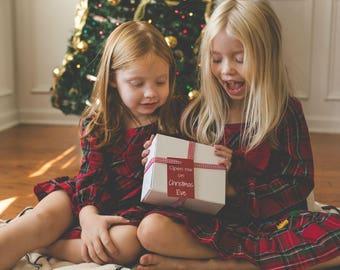 Christmas Eve Box for Kids UK - Xmas Eve box - Santa box - santa's lost button - personalised decoration - santa's magic key - hand stamped