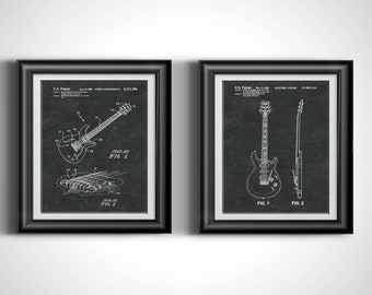 Paul Reed Guitar Player Gift * Heavy Metal Music Gift for Him * Instrument Music Art * Guitar Gifts for Musicians Art Prints Set of 2 PP5206