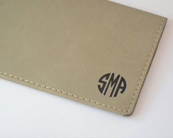 Minimalist Checkbook Cover, Monogrammed Checkbook Wallet, Vegan Checkbook Cover, Personalized Checkbook Cover, Engraved Checkbook Cover