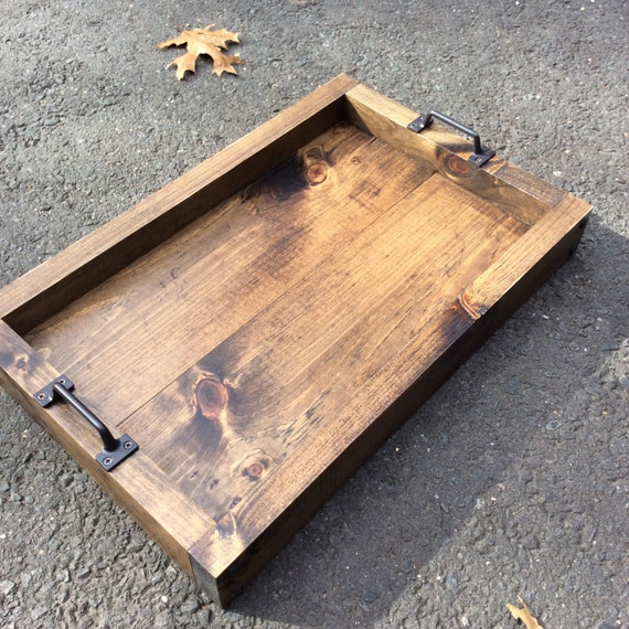items similar to rustic serving tray serving tray wood tray table tray tray rustic. Black Bedroom Furniture Sets. Home Design Ideas