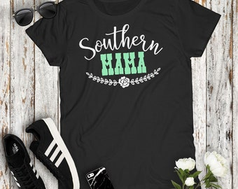 Southern Mama Country Women's Tshirt Cowgirl Concert Party Top Mudding Campfire Southern Girl Mom