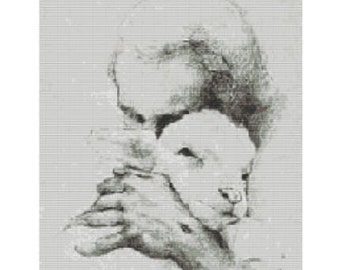 Good Shepherd, pattern for loom or peyote