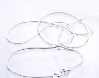 """18"""" Sterling Silver Snake Chain Necklace-925 Silver Chain 18 Inch-Silver Necklace-Silver Chain-18 inch Silver Chain-UK Seller"""