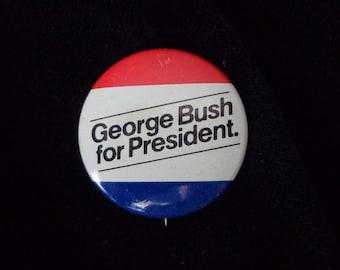 Vintage George Bush for President Button 1980 - ECS