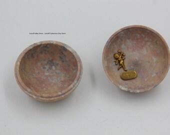 Vintage JO MARZ Marble Soapstone Butterfly Trinket box