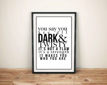 Grey's Anatomy Dark & Twisty Printable Poster