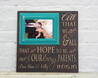 Mother of the Bride Gift Picture Frame, Wedding Gift for Parents, Thank You Gift for Parents, Parent Wedding gift, Parent Thank You Gift