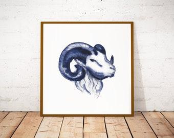 Zodiac Aries print, instant download Aries, personalized Aries gifts, Zodiac wall art, printable Aries poster bedroom wall decor/ JurgaDream