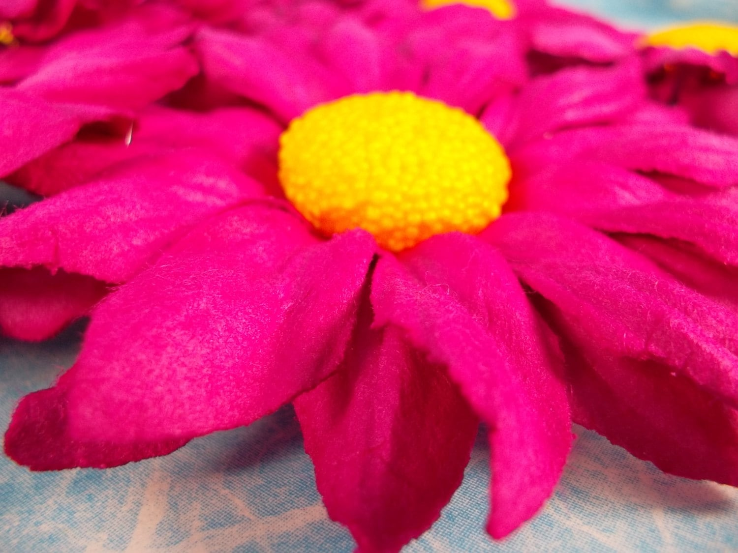 Flowers Pink Floral Pink Magenta Yellow Center Mulberry Paper Flower