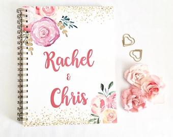 Personalized Wedding Planner, Custom wedding planner, bridal planner, wedding planning book, wedding binder, wedding checklist, gift for her