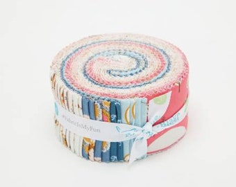 Guinevere Jelly Roll, 40 Pieces, Rachel Erickson, Riley Blake, Precut Fabric, Quilt Fabric, Cotton Fabric, Novelty Fabric