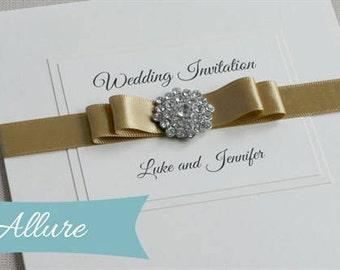 wedding invitation, ribbon