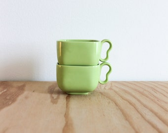 Pair of Franciscan Tiempo Sprout Green Cups