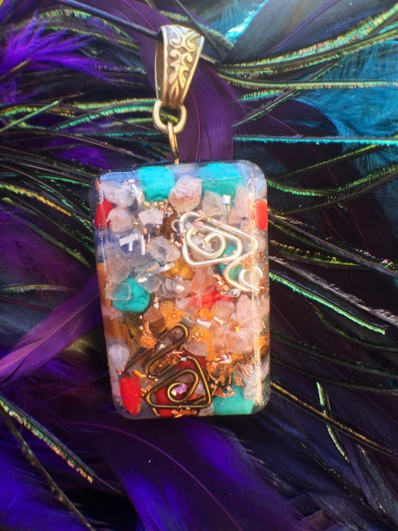 Gypsy Soul Orgonite® Pendant- Cleansing Himalayan Salt Orgonite® Necklace- Aquarius Orgone- Grounding Energy for Clairvoyance and Wisdom
