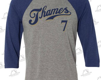 Eric Thames 3/4-Sleeve Baseball Shirt for Milwaukee Brewers fans