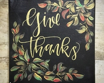 Acrylic painting- Give Thanks