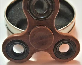 Real 100% Walnut Wood Triple Wing Fidget Spinner
