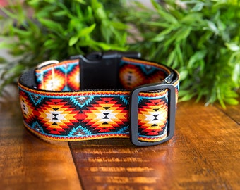 "Dog Collar - Tribal Dog Collar - 1.5"" Wide - Big Dog Collar / Dog Collars Australia / Large Dog Collar"