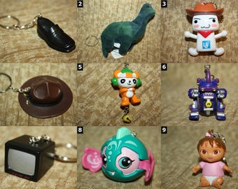 Keychains - Various Styles and Themes - Key Chain Accessories