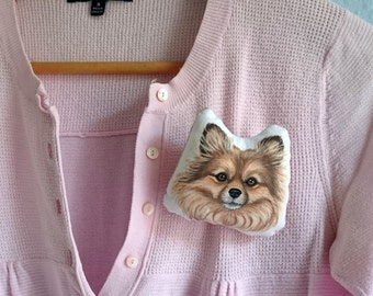Custom Pet Brooch, Personalized  gift for pet lovers, cat brooch, dog brooch, pet brooch, pet owner gifts, Christmas Gift