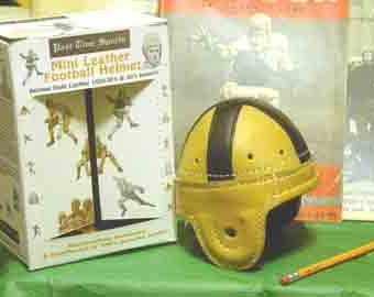 1947-1954 Mini Notre Dame Leather Football Helmet
