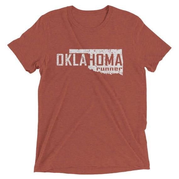 Men's Oklahoma Runner Triblend T-Shirt - Run Oklahoma - Men's Short Sleeve Running Shirt