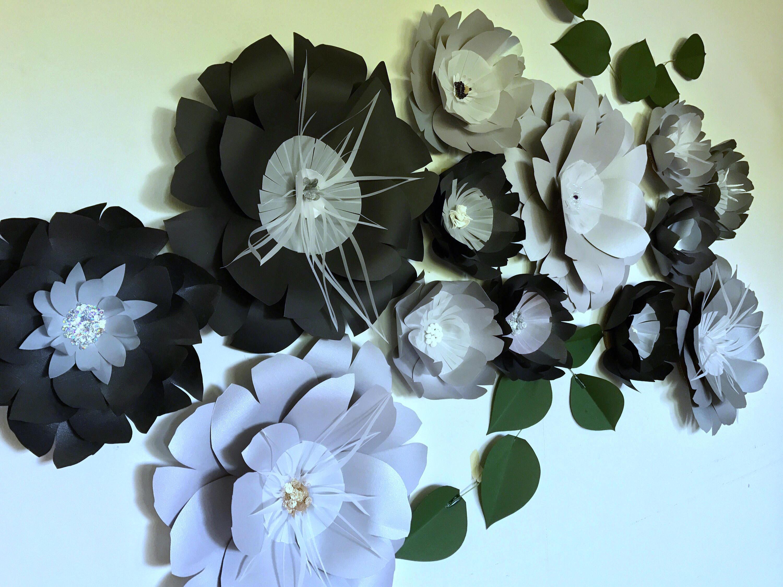 Black paper flowers black wall decor black giant flowers black wall gallery photo gallery photo gallery photo mightylinksfo
