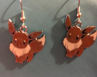 Pokemon Go Eevee Evee Earrings  B55