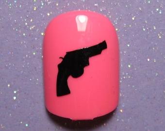 Gun nail decals, gun gifts, gun nail art, gun nail stickers, planner stickers