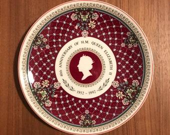 Queen Elizabeth II Wedgwood Coronation Plate