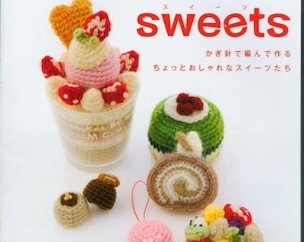 Cake crochet pattern,Play Food Crochet Pattern,Cupcakes,Cake,Pies,Candy,Cookies,Biscuit,Chocolate and Strawberry cake