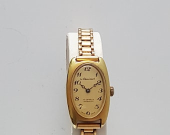 Vintage ladies LE CHEMINANT art deco style wrist watch from the 1980's------SERVICED-----