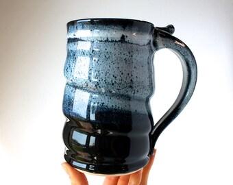 Handmade Beer Stein, READY TO SHIP, Tankard, 24 oz, Handmade Wheel-Thrown Pottery Stein