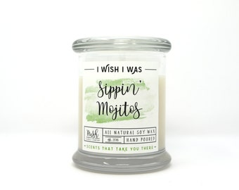 Mint Candle, Citrus Scented, Soy Wax Candle, Mojito Candles, Home Fragrance, Scented Candles, Home Decor, Mint Fragrance, Mojito Candle
