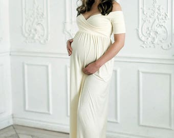 Exceptional Maternity Dress, Baby Shower Dress, Maternity Dress For Photoshoot,romantic  Maternity Dress